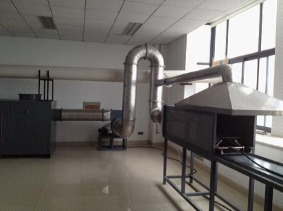 巷道丙烷燃烧性能试验装置实物图片