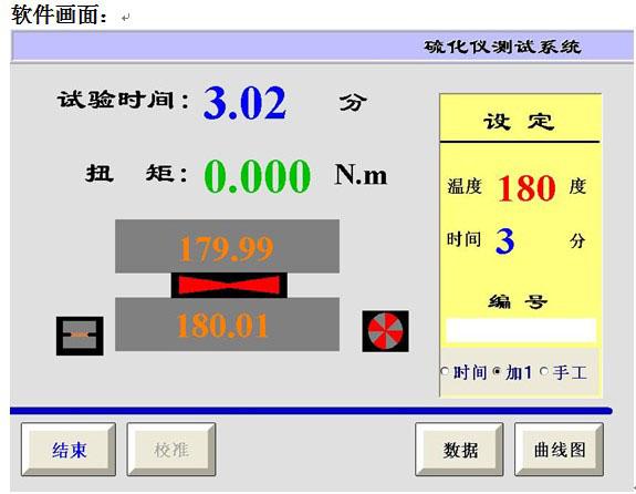 无转子硫化仪软件画面1