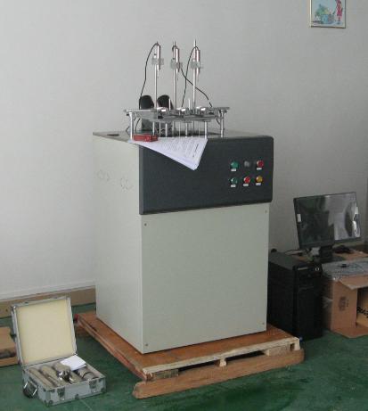 电脑控制的热变形维卡软化点温度测定仪实物图片